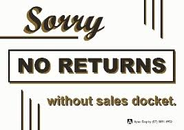 Sorry,no returns