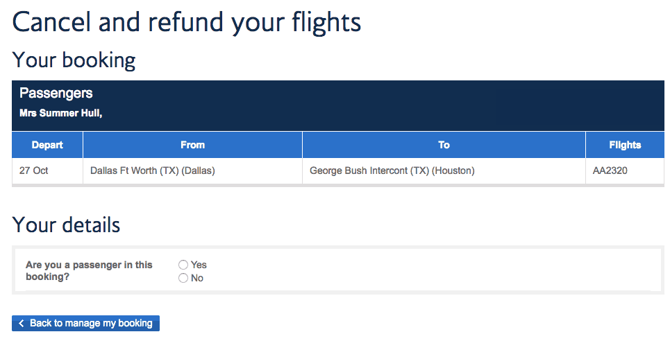 British Airways Return Policy