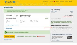 Expedia Return Policy